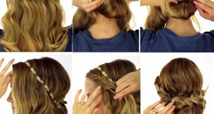 A Simple and Beautiful Hairstyle: Learn How to Make This Braided Headband Hairstyles For School