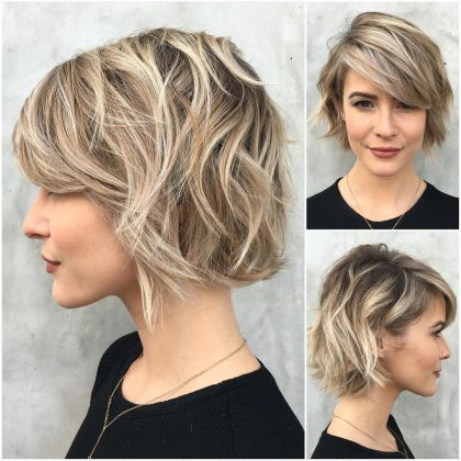 Short and Medium Cup Models with Bangs: Spring / Summer New Hair Cut Trends