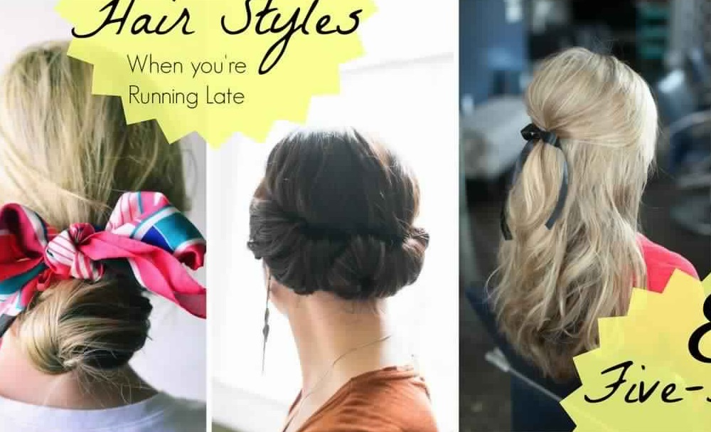 Max 5 Minutes Hairstyles For Your Pressed Mornings! Fast Simple Hairstyles