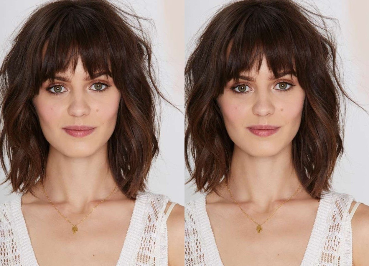 mid-length cuts with bangs