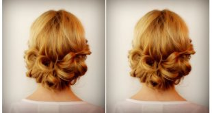 An Easy-to-Make Romantic Bun Updo Hairstyles