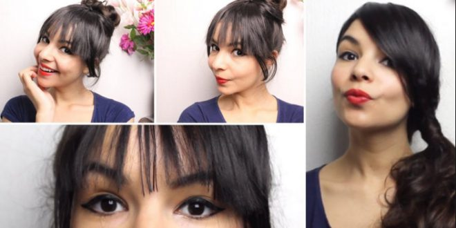 How To Style Hair With Bangs Easy Hairstyles