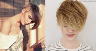 Asymmetrical Boyfriend Cut With A Long Bangs! Hair Cut Trends