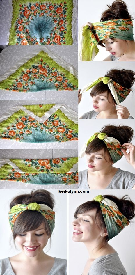 25 Styles Of Hairstyle For Spring New: Hairstyles With Scarf New Hairstyle Trends