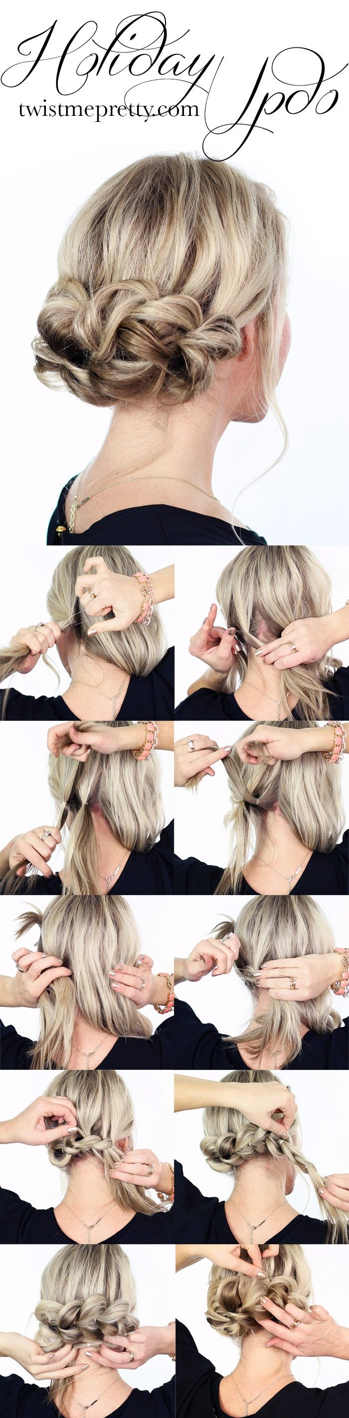 15 Beautiful Hairstyles Easy and Fast Everyday Hairdressing