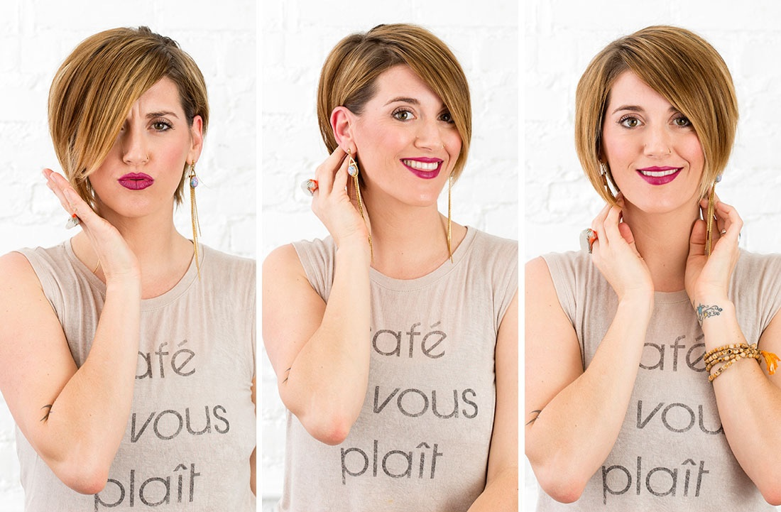 3 Minutes Chrono To Get 3 Different Looks For Your Short Cup! Short Hairstyles