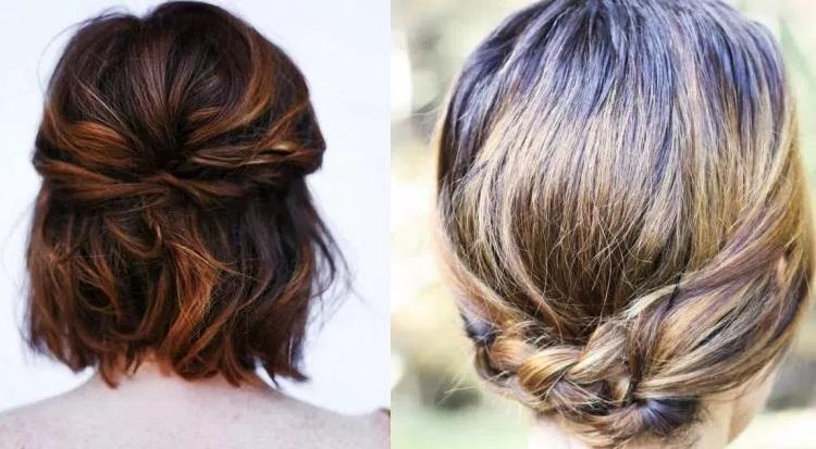 Beautiful Chignons on Short Hair Short Hairstyles