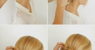 Simple Hairstyle for Everyday - Simple Bun Easy Hairstyles