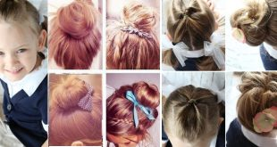 50 Simple and Fast Hairstyles for Back School! Everyday Hairdressing