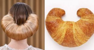 The Most Trendy Hairstyle in New Looks like a .... Croissant !!! Fashion Hairstyles