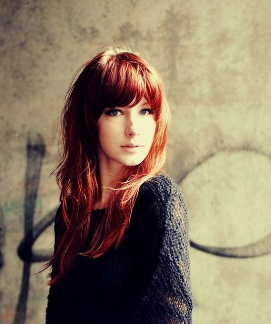 Red Hair With fringes: the most beautiful models Hair Color Ideas