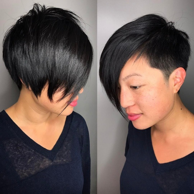 Asymmetrical Short Sections Trend Spring New Hair Cut Trends