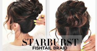 Bun with a Simple Braid in 3 Minutes Only Updo Hairstyles