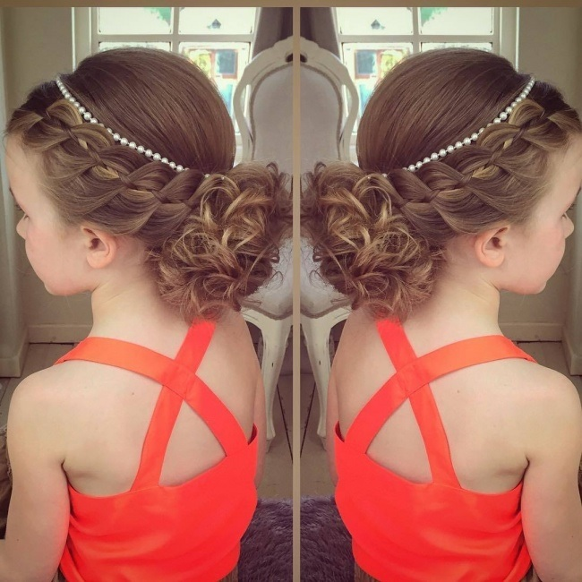 The most beautiful hairstyles evenings for little girl