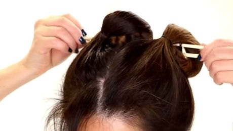 She uses two chopsticks on her wet hair? The results are very beautiful! Curly Hairstyles