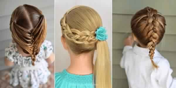 Beautiful Hairstyles Little Girls For The Back! Fast Simple Hairstyles