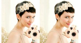 20 Hair Styles For Short Hair Brides: Beautiful! Wedding Hairstyle