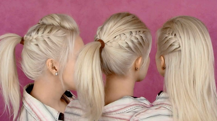 A beautiful Ponytail Easy to Make Everyday Hairdressing