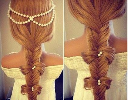 An evening hairstyle for a little girl New Hairstyle Trends