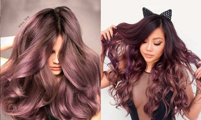 lilac hair with a chocolate taste: the most beautiful models to follow Hair Color Ideas