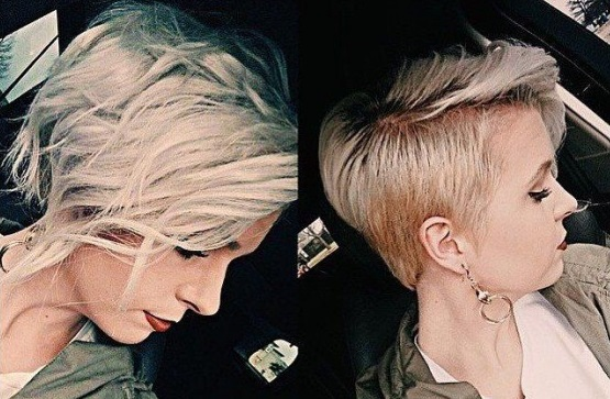 beautiful squares behind the ear: 34 awesome models Hair Cut Trends