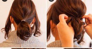 Easy-to-do bun - Easy Bun Ideas Easy Hairstyles