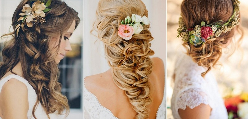 10 tutorials and styles of wedding hairstyles inspired summer New