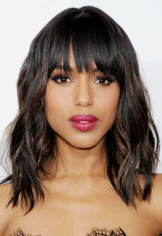 30 Medium Hair Models With Bangs Hair Cut Trends