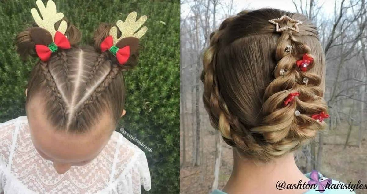Beautiful Hairstyles For Little Girl For Christmas New Hairdressing