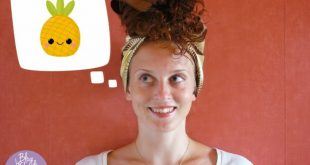 Pineapple Hairstyle To Protect And Keep Your Loops At Night New Hairstyle Trends