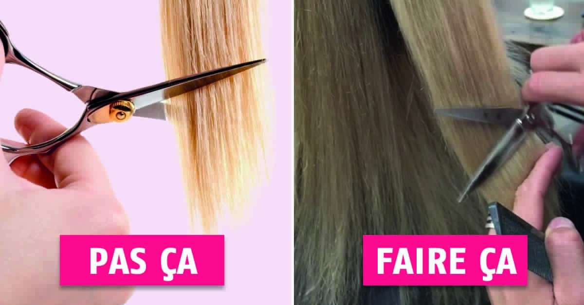 Learn the Hairdressers' Technique To Cut Flies And Not To Touch At The Tips! Hair Styling Tips