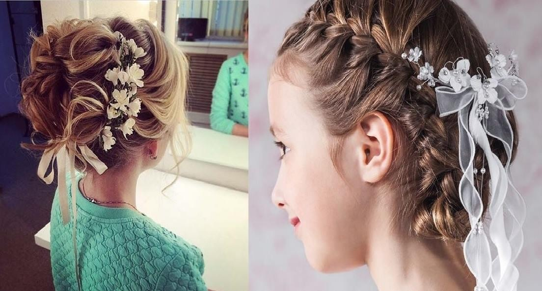 evening hairstyle for little girls