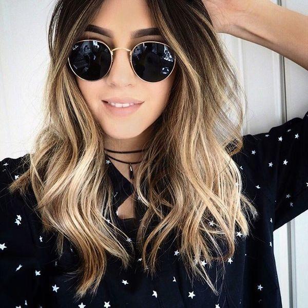 Mid-length hair highlights: beautiful models this year Hair Color Ideas