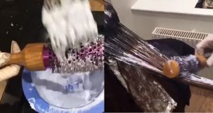She's Using A Hair Dryer Brush To Apply A Dye, The Results Are Gorgeous! New Hairstyle Trends