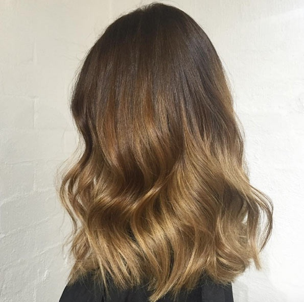 brown hair caramel sweep: the most beautiful models Hair Color Ideas