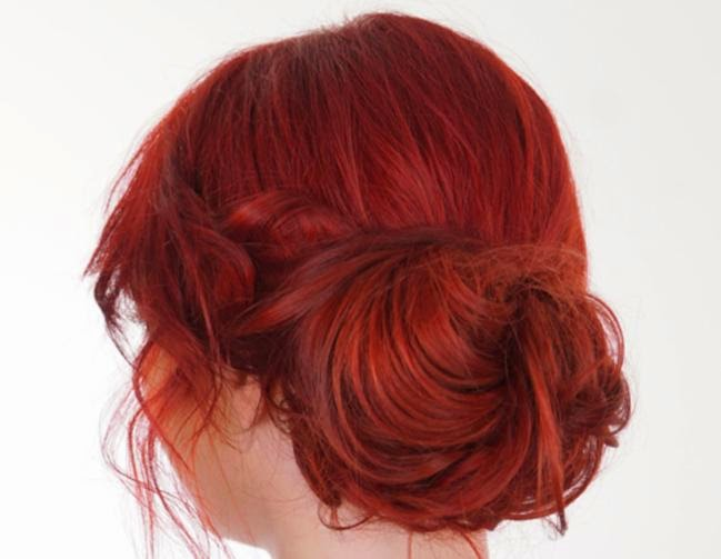 A simple bun for evening: Tutorial Hairstyles For Evening