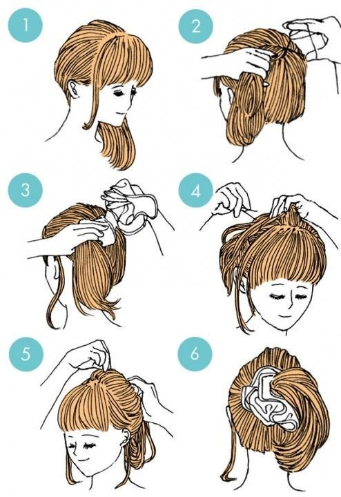 quick and easy hairstyle: 15 basic tutorials for short and medium length hair Fast Simple Hairstyles