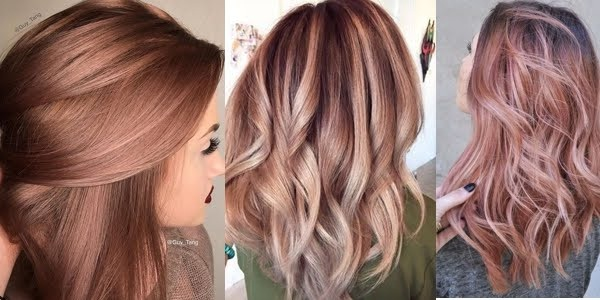 Try the Rose Gold This Spring! Hair Color Ideas