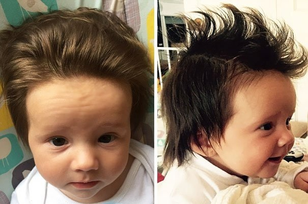 Beautiful Babies Born With Incredible Hair Simple Hairstyles