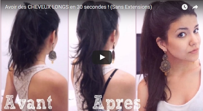 Brilliant Tip To Have Very Long Hair In 30 Seconds! (Without Extensions) Hair Styling Tips