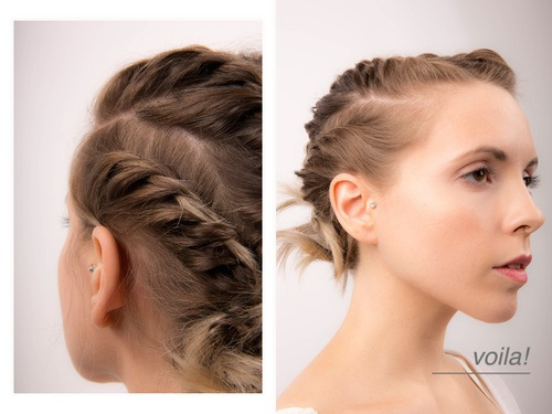 here are 20 models of practical chignons for every day Hairdressing