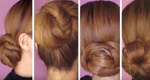 4 Easy and Fast Methods to Make a Bun Updo Hairstyles