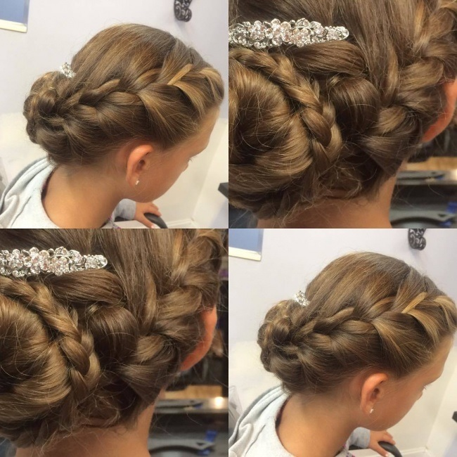 evening hairstyle for little girls Hairdressing