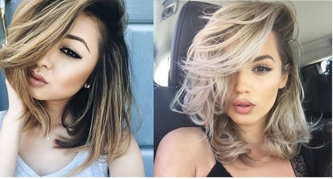 shaded hair mid-length hair: the most beautiful models Hair Color Ideas