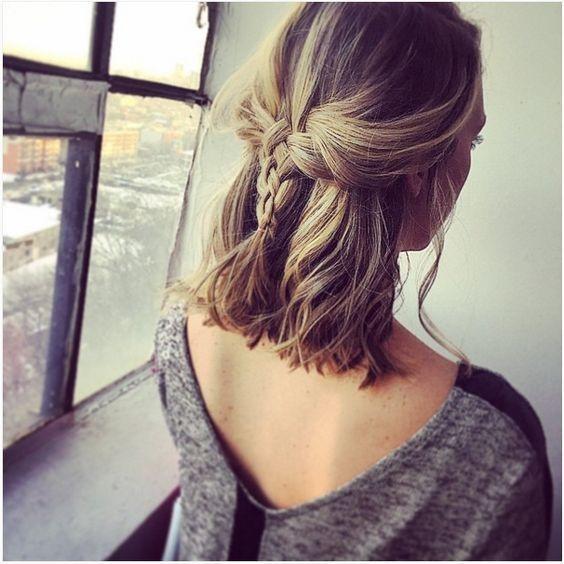 Short hair hairstyle: the braid on short hair is an ideal choice Hairstyles with Braids