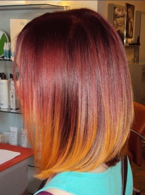 15 Shaded Hair Models On Medium-Long Hair - Trend New! Hair Color Ideas