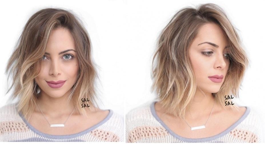shaded hair mid-length hair: the most beautiful models Hair Color Ideas