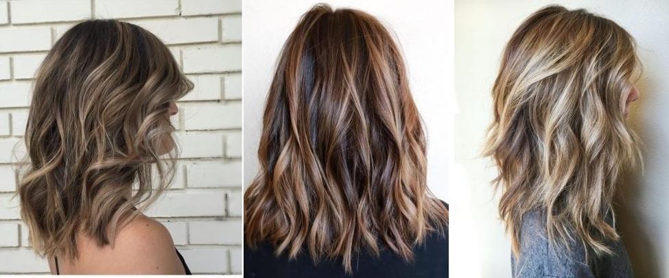 Medium length hair: beautiful New trendy models Hairdressing Medium Hairstyles