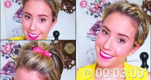 4 Simple and Fast Hair Styles For Too Short Hair Short Hairstyles