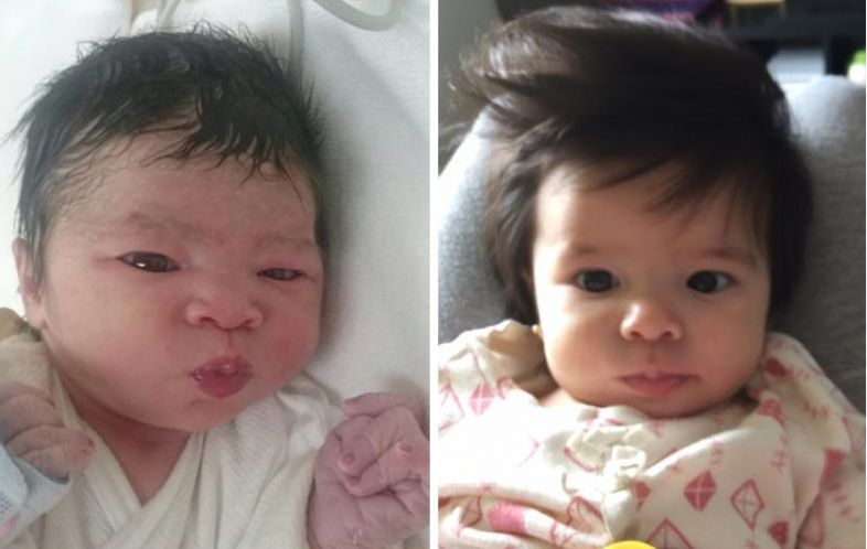 60 Pictures of Babies Born with Beautiful Hair Hair Styling Tips